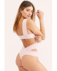 Free People - Oh She's Strappy Duo Bodysuit By Intimately - Lyst