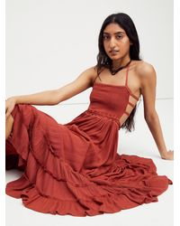 Free People Extratropical Maxi Dress - Red