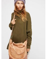 Free People | Lucca Washed Leather Tote | Lyst
