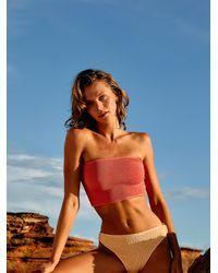 Free People Wave Bandeau Bikini Top - Multicolour