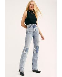Free People My Own Lane Jeans By We The Free - Blue