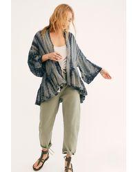 Free People Fp One Sasha Tie Dye Kimono - Green