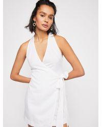 Free People - Fine Lines Mini Dress - Lyst