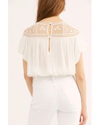 254e0d62a5fc9d Free People If You Had My Love Printed Blouse in Red - Lyst