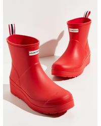 Free People Hunter Play Short Wellies - Red