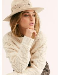 Free People Porto Woven Hat - Natural