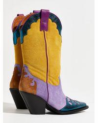 Free People Firecracker Western Boots - Multicolor
