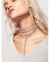 Free People   Wanted & Wild Leather Bolo   Lyst