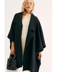 Free People Off Duty Oversized Poncho - Black
