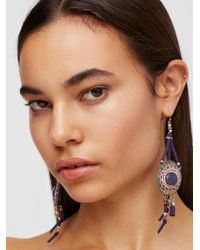 Free People | Beaded Beaches Leather Earrings | Lyst