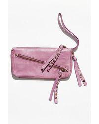 Free People Distressed Wallet - Pink
