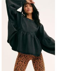 Free People Lucy Pullover - Black