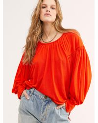 Free People Farrah Top By Fp Beach - Red