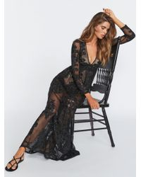 Free People Temecula Maxi Dress - Black