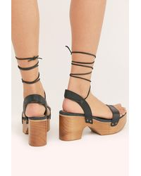 Free People Aurora Wrap Clogs By Fp Collection - Black