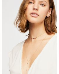 Free People - Delicate Spark Necklace By Revello - Lyst