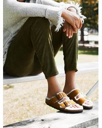 Free People Arizona Shearling Birkenstock Sandals - Multicolour