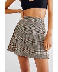 Dickies Seamed Pleated Skirt - Brown