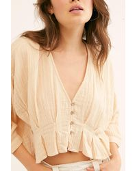 Free People Gretta Top By Endless Summer - Natural