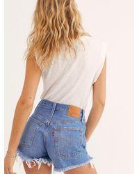 Free People Levi's 501 High-rise Denim Shorts - Blue