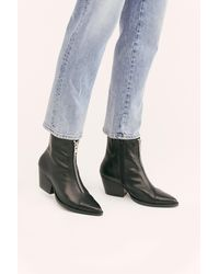 Free People Landyn Zip Front Boots By Jeffrey Campbell - Black