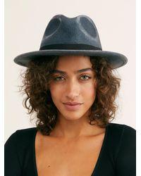 Free People Frankie Distressed Felt Hat - Blue