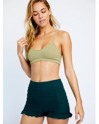 Free People Ruched Seamless Shorts By Intimately - Green