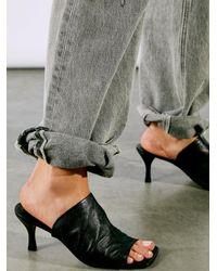 Free People Cara Square Toe Heels - Black