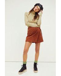 Blank NYC Mud Pie Suede Mini Skirt - Multicolour