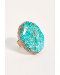 Free People Skye Stone Ring By Ayana Designs - Blue