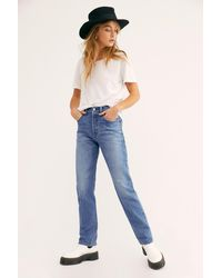 Free People Levi's 501 Straight Jeans - Blue