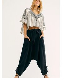 Free People Major Crush Harem Trousers By Endless Summer - Black