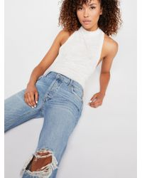 Free People - Maggie Mid-rise Straight-leg Jeans - Lyst