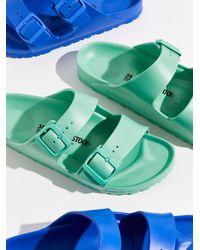 Free People Eva Arizona Birkenstock Sandals - Blue