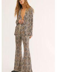 Free People Jimi Leopard Suit By Lenni - Multicolour