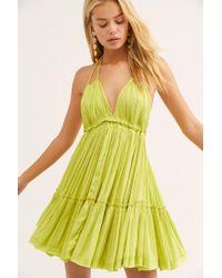Free People 100 Degrees Of Shine Mini Dress