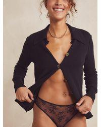 Free People Romy Bikini Undies - Black