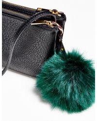 Free People Faux Fur Pompom Bag Charm - Multicolour