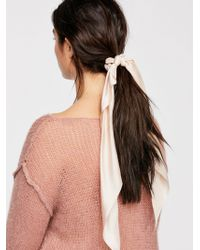 Free People - Bardot Solid Scarf Pony - Lyst