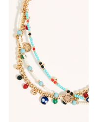 Free People Treasure Layer Anklet - Multicolour