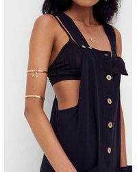 Free People Not Over You Overalls - Black