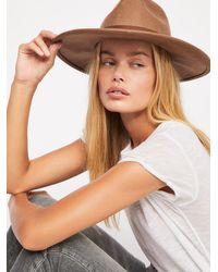 Free People Beaumont Suede Band Felt - Brown