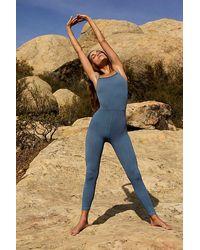 Fp Movement Happiness Runs Square Neck Onesie - Blue