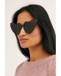 Free People Heart Eyes Sunglasses - Brown