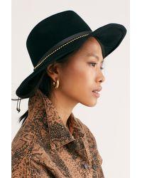 Free People Chocorua Felt Hat By Nikki Beach - Black