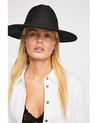 Free People Beaumont Suede Band Felt - Black