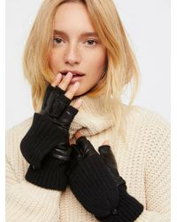 Free People - Silver Lining Pop-top Glove - Lyst