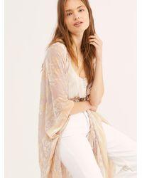 Free People Nightbird Burnout Kimono - Natural