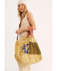 Free People We The Free Bungalow Canvas Tote - Yellow
