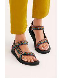 Free People Original Universal Printed Teva Sandals - Multicolour